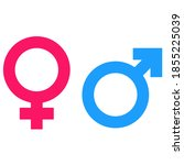 men and women sign symbols...   Shutterstock .eps vector #1855225039