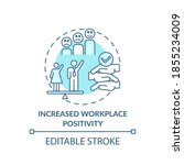 increased workplace positivity... | Shutterstock .eps vector #1855234009