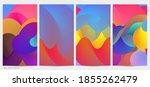 3d fluid wavy shape. bright...   Shutterstock .eps vector #1855262479