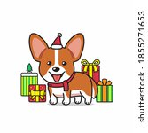vector cartoon character corgi... | Shutterstock .eps vector #1855271653