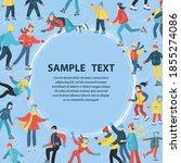 vector cartoon background on... | Shutterstock .eps vector #1855274086
