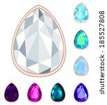 teardrop gemstone set. eps10 ... | Shutterstock .eps vector #185527808