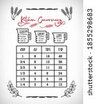 kitchen conversions chart.... | Shutterstock .eps vector #1855298683