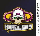 Headless Esports Logo. Skull...