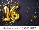 Gold Foil Balloon Number  Digit ...