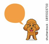 cartoon character happy poodle... | Shutterstock .eps vector #1855323733