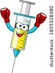 smiling cartoon character... | Shutterstock .eps vector #1855328380