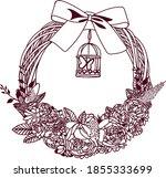 Decorative Wreath Of Flowers...