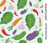seamless pattern vegetable flat ... | Shutterstock .eps vector #1855339996