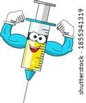 smiling cartoon character... | Shutterstock .eps vector #1855341319