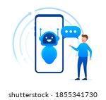 robot icon. bot sign design.... | Shutterstock .eps vector #1855341730