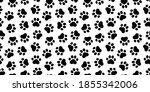 pet prints. paw seamless... | Shutterstock .eps vector #1855342006