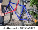 Bicycle Thief Trying To Steal A ...