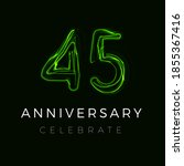 forty five anniversary poster... | Shutterstock .eps vector #1855367416