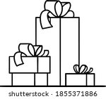 pile of gift boxes or christmas ... | Shutterstock .eps vector #1855371886