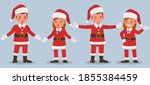 set of kids wearing christmas... | Shutterstock .eps vector #1855384459