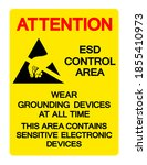 attention esd control area wear ... | Shutterstock .eps vector #1855410973