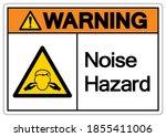 warning noise hazard symbol... | Shutterstock .eps vector #1855411006