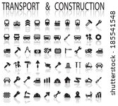 construction and transport | Shutterstock .eps vector #185541548