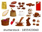 chocolate  cocoa vector choco... | Shutterstock .eps vector #1855423060