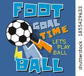 vector football  soccer ball... | Shutterstock .eps vector #1855429633