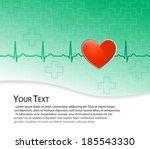 vector medical background. red... | Shutterstock .eps vector #185543330
