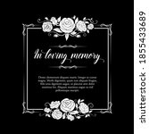 funeral frame with roses... | Shutterstock .eps vector #1855433689