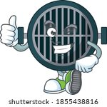 caricature picture of grill...   Shutterstock .eps vector #1855438816