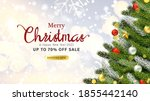 modern merry christmas and new... | Shutterstock .eps vector #1855442140