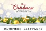 modern merry christmas and new... | Shutterstock .eps vector #1855442146