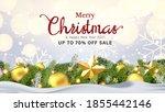 modern merry christmas and new... | Shutterstock .eps vector #1855442146