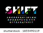 shifted font modern colorful... | Shutterstock .eps vector #1855490119