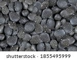 Black Stone With Water Drops ...