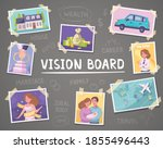 vision board cartoon background ...   Shutterstock .eps vector #1855496443