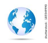 illustration of a globe... | Shutterstock .eps vector #185549990