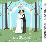 wedding marriage ceremony....   Shutterstock .eps vector #1855507813