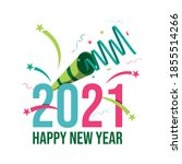 happy new year 2021 greeting... | Shutterstock .eps vector #1855514266