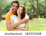 lovely young indian couple... | Shutterstock . vector #185552438