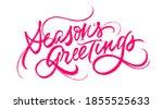 season s greetings inscription. ... | Shutterstock .eps vector #1855525633