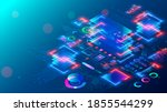 computer cpu chip or processor... | Shutterstock .eps vector #1855544299