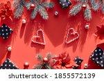 christmas festive background in ...   Shutterstock . vector #1855572139