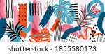 hand painted illustrations wall ... | Shutterstock .eps vector #1855580173