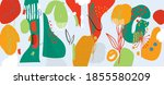 hand painted illustrations wall ... | Shutterstock .eps vector #1855580209