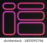 neon gradient frames set ... | Shutterstock .eps vector #1855592746