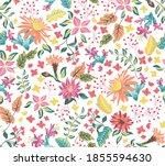 modern ethnic pattern vector... | Shutterstock .eps vector #1855594630