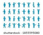 Movement Stick Man Set. Symbol...