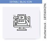 blogging platform line icon.... | Shutterstock .eps vector #1855604296