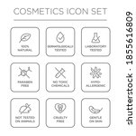 cosmetics round isolated... | Shutterstock .eps vector #1855616809