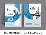 corporate book cover design...   Shutterstock .eps vector #1855624396
