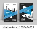 corporate book cover design... | Shutterstock .eps vector #1855624399